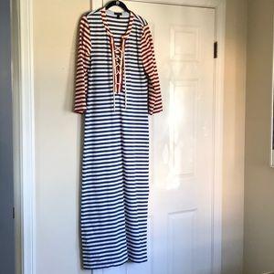J Crew Striped Maxi Dress